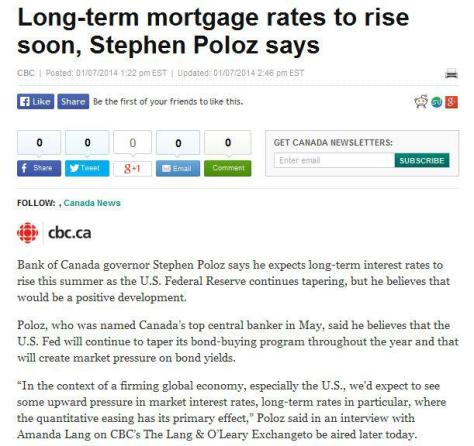 long term mortgage rates to rise soon