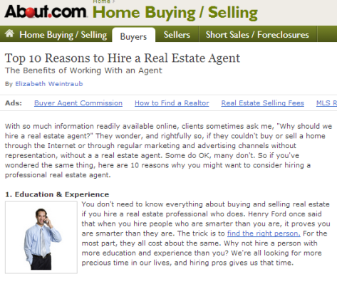 top-10-reasons-to-hire-a-real-estate-agent