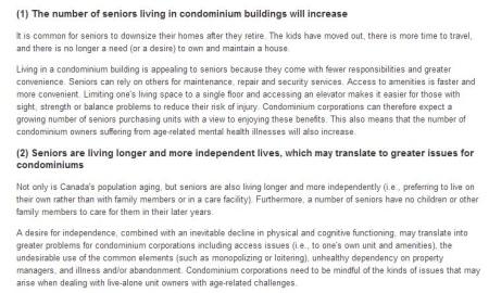 Number of Seniors