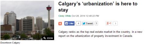 Calgarys Urbanization is here to stay